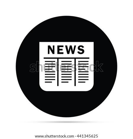 Circular Newspaper Icon.  Raster Version - stock photo