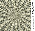 Circular ornament one hundred dollar bill obverse - stock photo