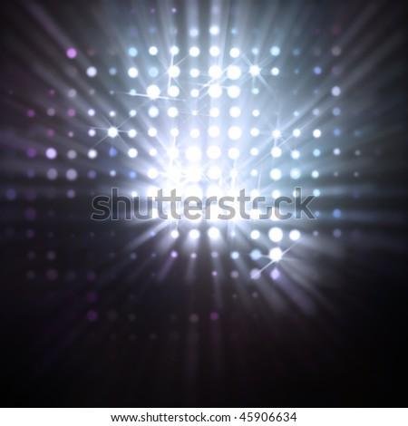 circular reflections - stock photo