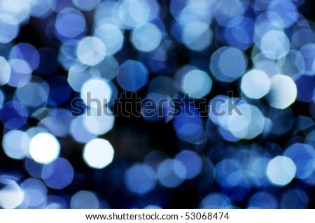 circular reflections. Blured christmas light. - stock photo