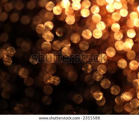 circular reflections of Christmaslights - stock photo