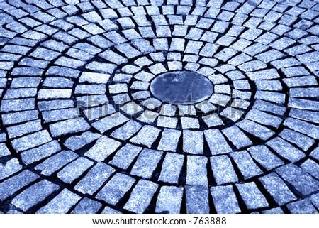 circular road III - stock photo