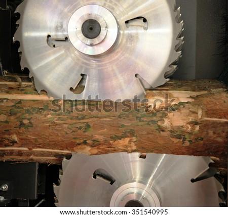 Circular Saw. Cutting Using Circular Saw for wood - stock photo