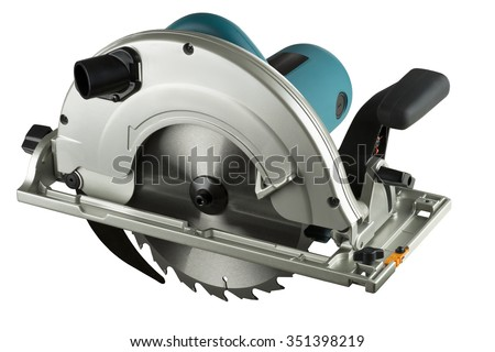 circular saw isolated on a white background. - stock photo