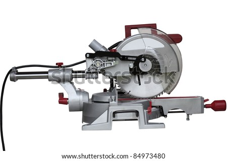 Circular saw isolated on white background