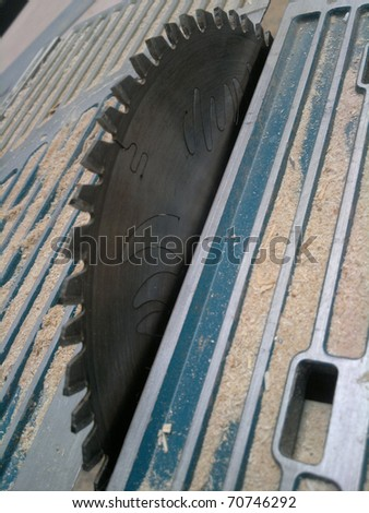 Circular saw with blade used for wood