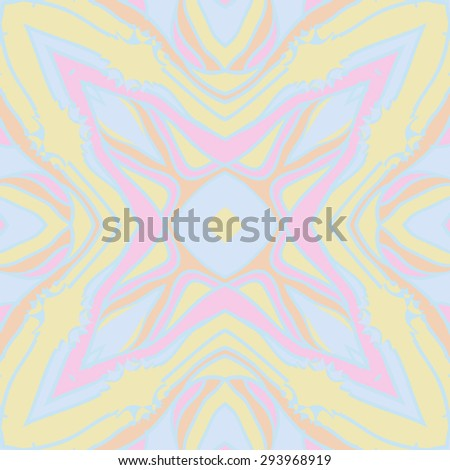 Circular seamless  pattern of striped motif, stripes, stars, hole. Hand drawn.