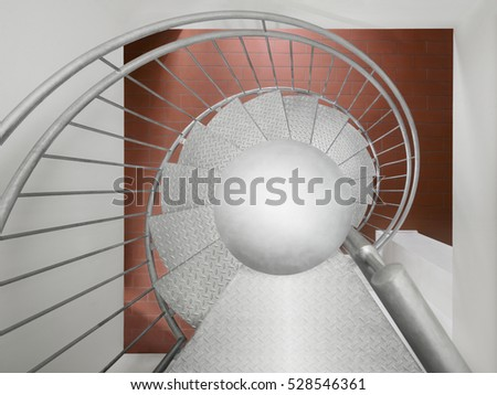 Circular spiral stairs staircase