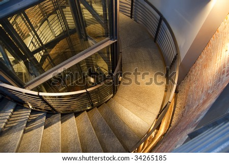 Circular stairs - stock photo