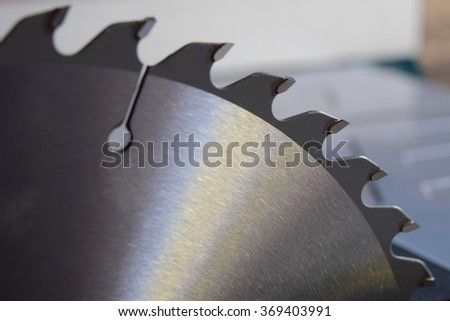 Circular table saw blade background