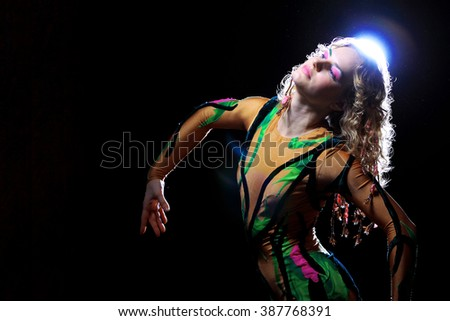 circus acrobat - stock photo