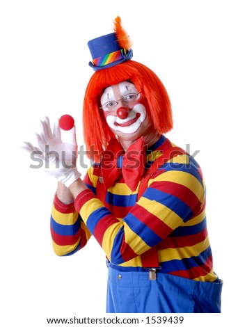 Circus Clown Doing a Magic Trick