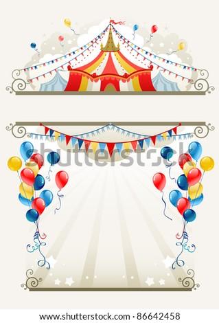 Circus frame. Raster version - stock photo