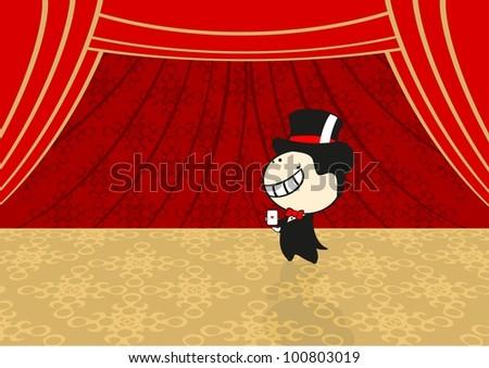 Circus performance (raster version) - stock photo