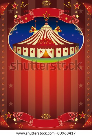 circus show leaflet. Circus leaflet for your advertising.