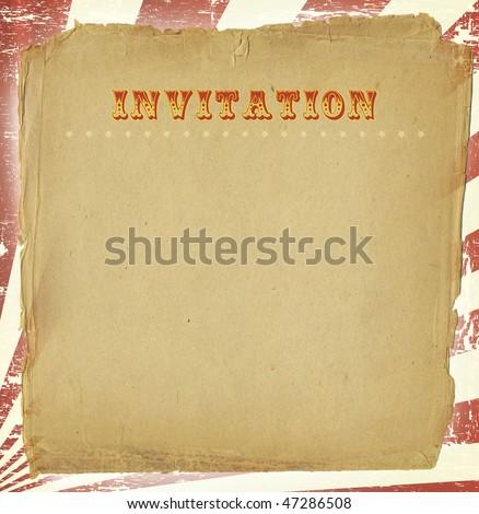 Circus Style Invitation - stock photo