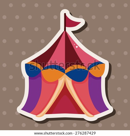 circus tents , cartoon sticker icon