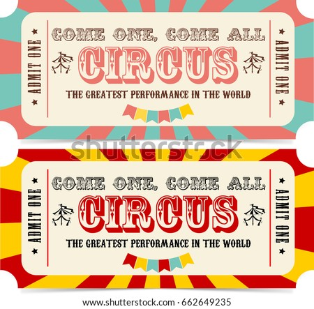 Circus Ticket Stock Images, Royalty-Free Images & Vectors | Shutterstock
