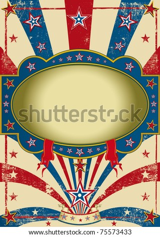 circus vintage poster. A vintage background for a poster. - stock photo