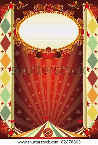 circus vintage rhombus poster. A new circus poster for your show !!! - stock photo