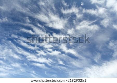 cirrostratus clouds - stock photo