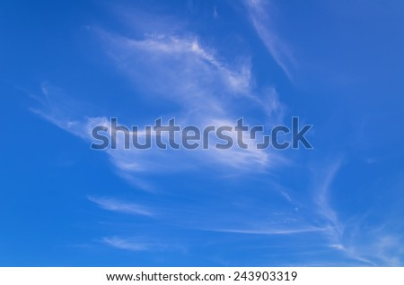 Cirrus Clouds On The Blue Sky - stock photo