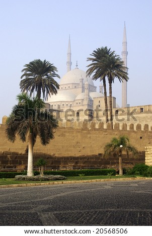 Citadel in early morning. Cairo, Egypt. - stock photo