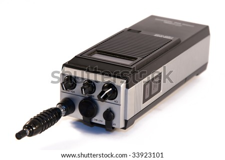 Citizen band radio against white background - stock photo