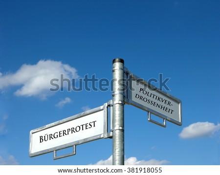 Citizens protest - politics - stock photo