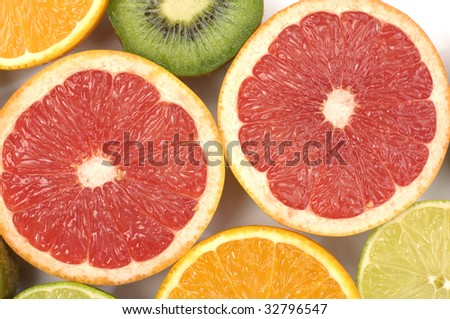 Citrus collection background