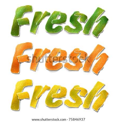 "Citrus ""Fresh"". Illustration. - stock photo"