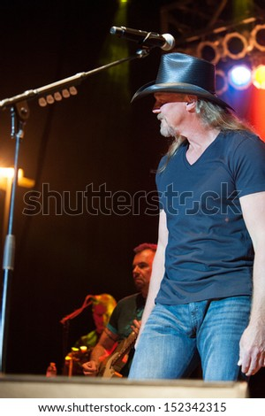CITRUS HEIGHTS, CA - August 29: Trace Adkins performs at the Sunrise at Night Concert Series at Sunrise Marketplace in Citrus Heights, California on August 29, 2013 - stock photo