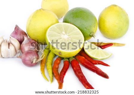 Citrus lime fruit isolated on white background  - stock photo
