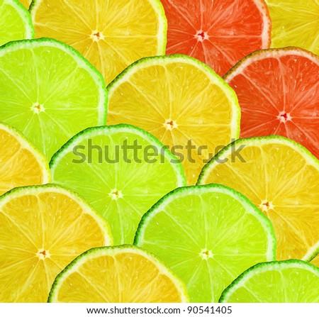 Citrus slice background - stock photo