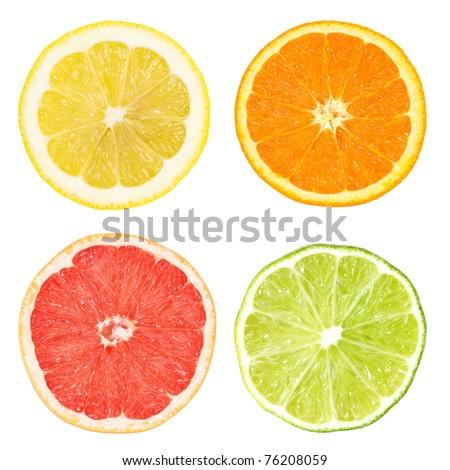citrus slices - stock photo