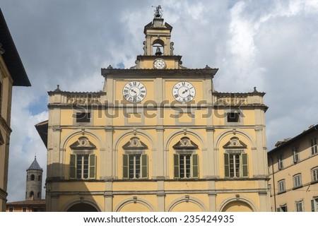 Citta di Castello (Perugia, Umbria, Italy): historic buildings - stock photo