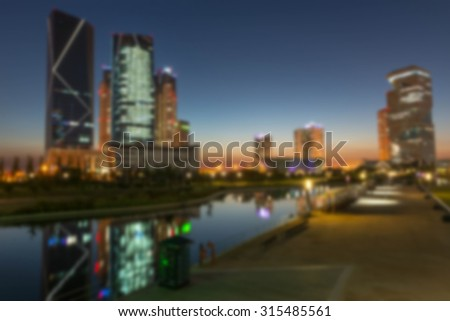 city Abstract bokeh background of Christmaslight.(Blured)