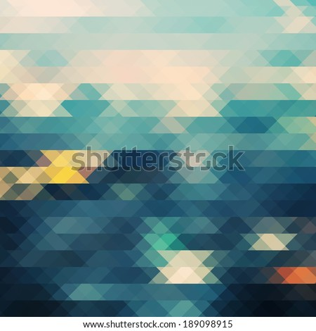 City at night,pixel background.Vintage colorful pixel background. - stock photo
