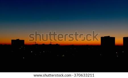 City at sunrise - stock photo