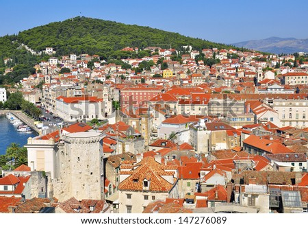 City at the mediterranean sea, Croatia