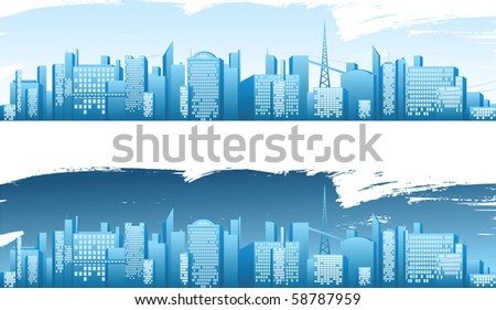 City  banners - stock photo