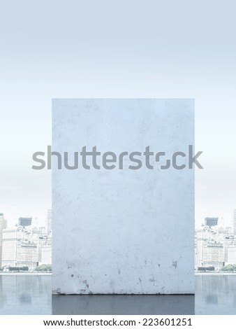 City behind the wall - stock photo