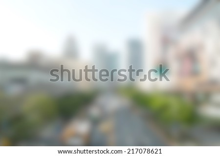 city blur background - stock photo