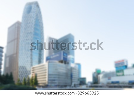 city blur background in japan - stock photo
