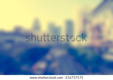City blur Vintage style for background - stock photo