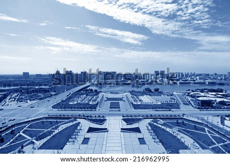 city building architecture in northern China, closeup of photo