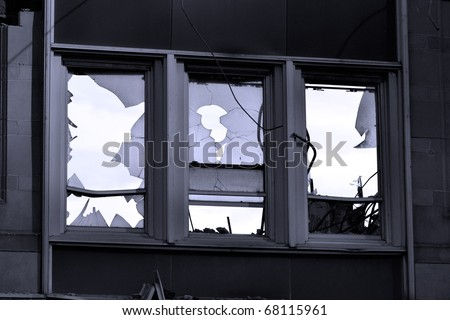 City Building Demolition - stock photo