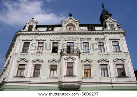City building in Kromeriz, Zlin region, Czech Republic.