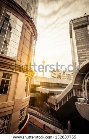 City building in Kuala Lumpur, Malaysia - stock photo