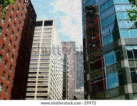city buildings - stock photo